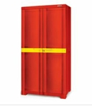 Nilkamal Freedom Mini Medium Storage Cabinet (Bright Red Thums Up Yellow) FLPWFRDOMPBOMMM001