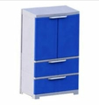 Nilkamal Freedom FMDR 2B Storage Cabinet (Pepse Blue-Brighred-Yellow)