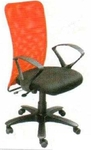 Vishal VC-210 Color Orange With Black Mesh Chair