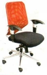 Vishal VC-211 Color Orange With Black Mesh Chair