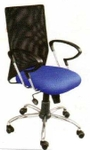 Vishal VC-212 Color Black With Purple Mesh Chair