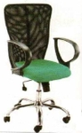 Vishal VC-213 Color Black With Green Mesh Chair
