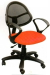 Vishal VC-217 Color Orange With Black Mesh Chair