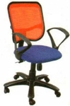 Vishal VC-218 Color Blue With Orange Mesh Chair