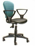 Vishal VC-305 Color Black With Light Blue Computer Chair
