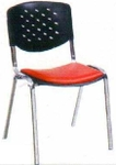 Vishal VC-905 Color Black With Orange Cafeteria Chair