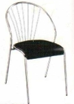 Vishal VC-907 Color Black Cafeteria Chair