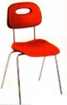 Vishal VC-917 Color Red Cafeteria Chair