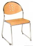 Vishal VC-924 Color Wood Cafeteria Chair