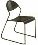 Vishal VC-925 Color Black Cafeteria Chair
