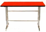 Vishal VC-939 Color Red With Black Cafeteria Chair