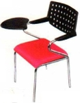 Vishal VC-1102 Color Black With Light Red Writing Chair
