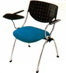 Vishal VC-1103 Color Black And Sky Blue Writing Chair
