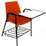 Vishal VC-1109 Color Orange Writing Chair