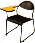 Vishal VC-1110 Color Black Writing Chair