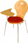 Vishal VC-1113 Color Maroon Writing Chair
