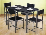 Nilkamal Wooden Top Wigo Black 1+4 Dining Set (FLDSWIGONHIDSBLK)