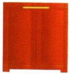 Vishal VC-1615 Color Orange With Yellow Storage Cupboard