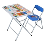 Nilkamal Disney Kid Study Table With Chair (KDISSTBLCHRWHIBLU)