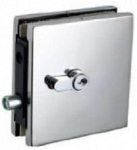 Hafele 981.00.450 SS Matt Corner Patch Lock With PC Aperture