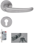 DORMA Pure 8998 Lever Handle Sets - Stainless Steel Finish