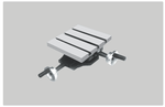 Unique 400x400 Mm Compound Sliding Table With Calibrated Wheel & Swivelling
