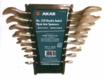 AKAR Double Open Ended Jaw Spanner Set 12 Pcs. With Tray Packing