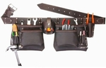"""SIR-G """"Multi Pockets"""" Heavy Duty Oil Tanned Leather Contractors Tool Belt Lot-724"""