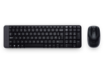 Logitech Wireless Keyboard Mouse Combo Black - MK220