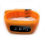 8 Locations Life Plus Orange Fitness Tracker Band