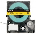 Epson 12 Mm Black On Yellow Tape Cartridge LC-4YBP