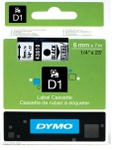 Dymo Black On Clear D1 Label Tape S0720770
