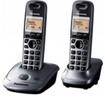 Panasonic Black Combo Of 2 Cordless Landline Phones KX-TG3552
