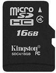 Kingston SDC 4/16GB Spin 16 GB Micro SDHC Card