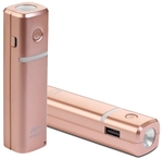 Ambrane 2600mAh With Samsung Cells Battery Power Bank Gold - P-203