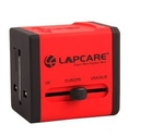 Lapcare LOADRE5134 World Travel Adapter With Dual USB (Red)