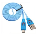 Swastik 1 Meter Smiley Cable (Colour - Cyan)