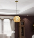 Noble Crystal Round Pendant Light