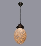 Noble Shell Oval Hanging Light