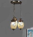 Noble Silver Mosaic Hanging Lamp - Set Of 3 (Small)