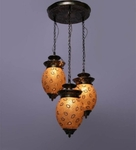 Noble Golden Tear Drop Hanging Lamp - Set Of 3 (Small)