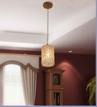 Noble Golden Cylinder Hanging Light - Small