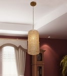 Noble Golden Cylinder Hanging Light - Large