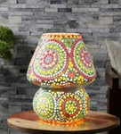 Noble Iris Multicolor Mosaic Table Lamp