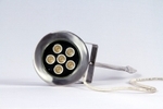 Noble Electricals 7.2W Amber LED Garden Lights 220 V AC IP 67 Grey Powder Coated