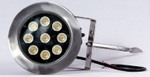Noble Electricals 10.8w Red LED Garden Lights 220 V AC IP 67 Grey Powder Coated