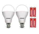 Eveready 14W Cool Day Light LED Bulb 2 Piece With 2 Ultima AAA LR3 Alkaline Battery