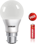 Eveready 8W Cool Day Light LED Bulb Pack Of 2 With 1 AA R6 Battery