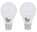 Forus 3 W Cool White Led Bulb Pack Of 2