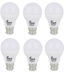 Forus 3 W Cool White Led Bulb Pack Of 6
